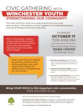 Flier for Civic Gathering with Youth